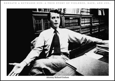A vintage picture of Dick Graham as a young attorney, published in the book.