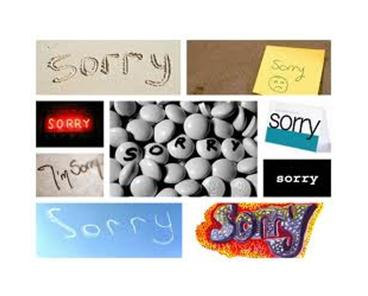 ABOUT APOLOGIES