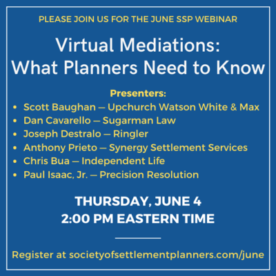 Mediator Scott Baughan to Discuss Zoom Mediation for Society of Settlement Planners on June 4