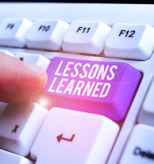 "The ""Lessons Learned"" button."
