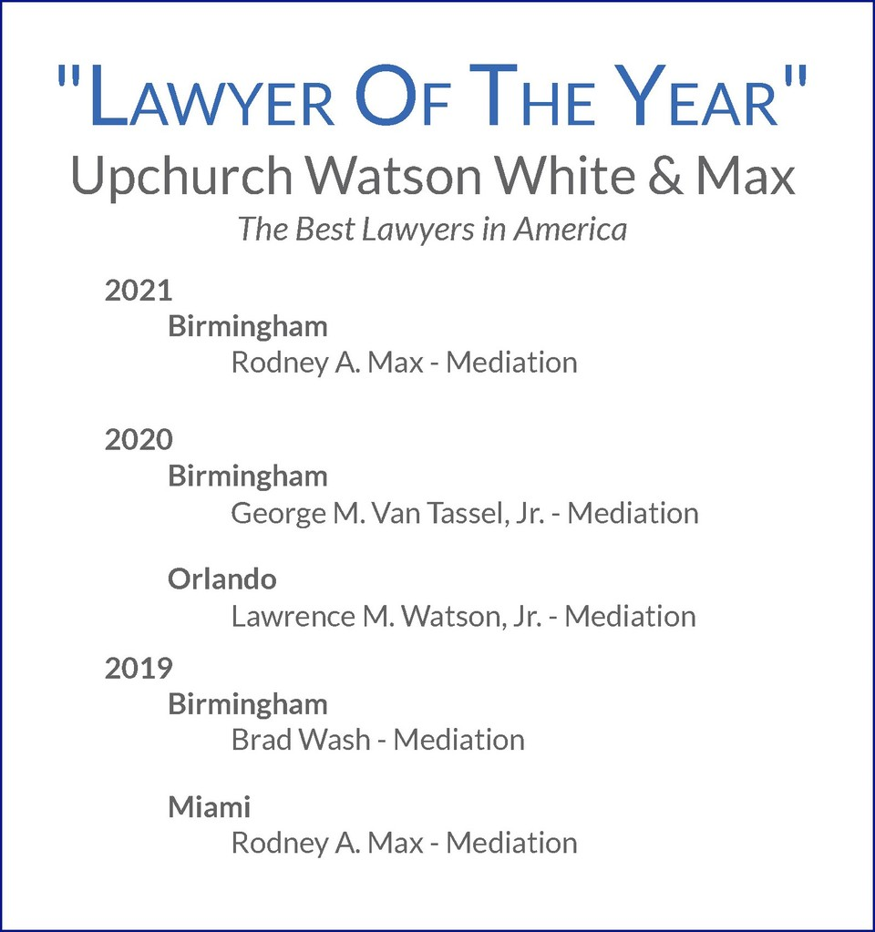 "A small part of our ""Lawyer of the Year"" record"