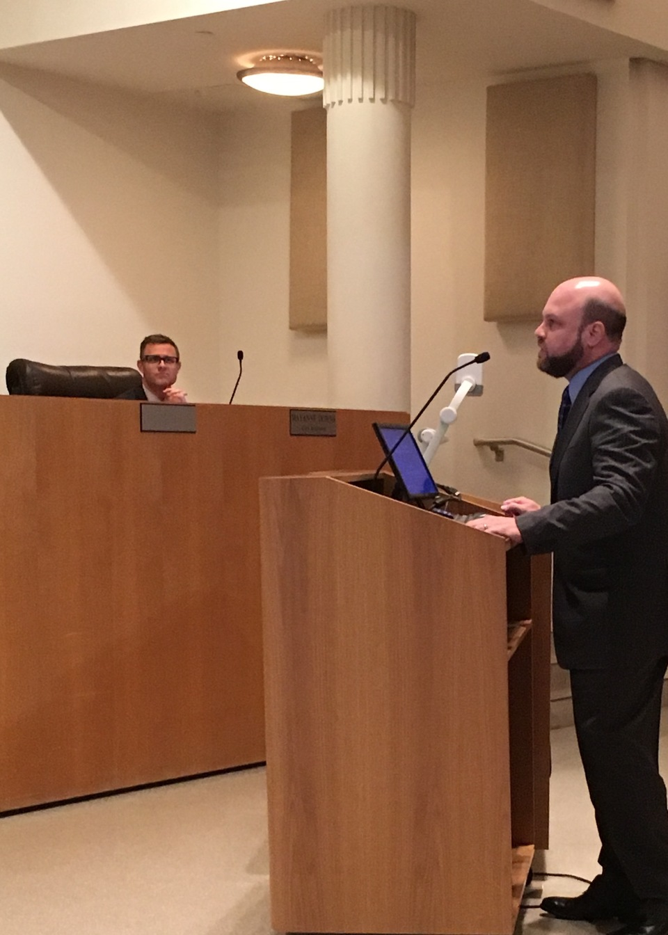 Mediator Lawrence Kolin speaks to the Orlando City Council about Mediation Week 2016.