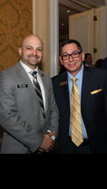 Attorney and MDTLA board member Bobby Nunez with South Florida mediator Art Garcia.