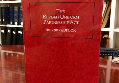 Mediator Donald J. Weidner adds to his list of published works with 2018 edition of RUPA