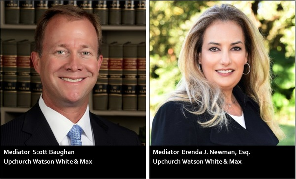 Mediators Scott M. Baughan and Brenda J. Newman Certified by U.S. District Court