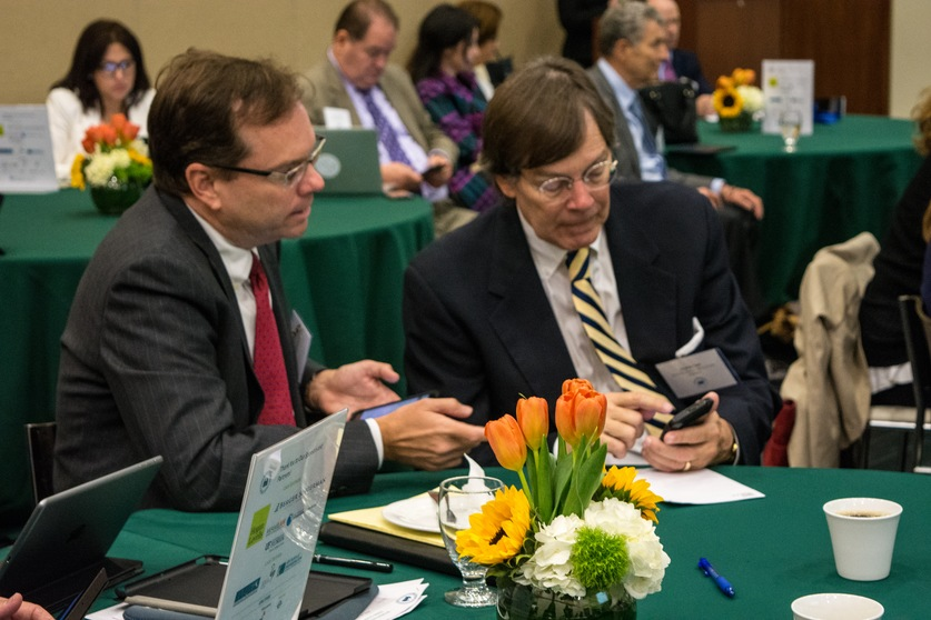 Mediators Richard Lord, left, and Ricardo Cata participated in the GPC at the University of Miami School of Law.